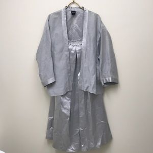 Eileen Fisher Silk shawl Blazer and silk skirt set